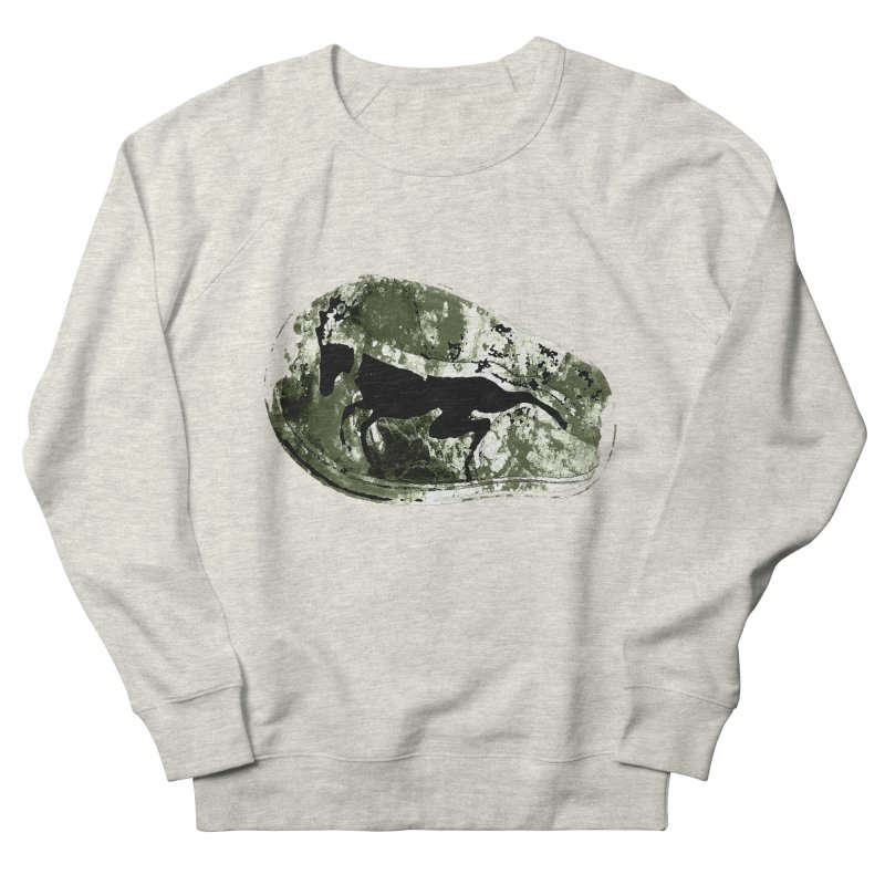Running deer Men's French Terry Sweatshirt by Mirabelle Digital Art shop