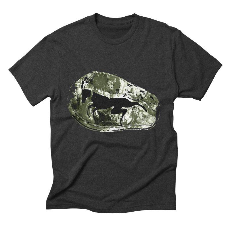 Running deer Men's Triblend T-shirt by Mirabelle Digital Art shop