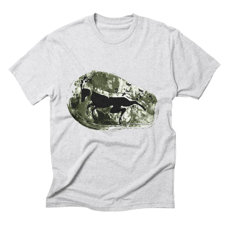 Running deer Men's Triblend T-Shirt by Mirabelle Digital Art shop