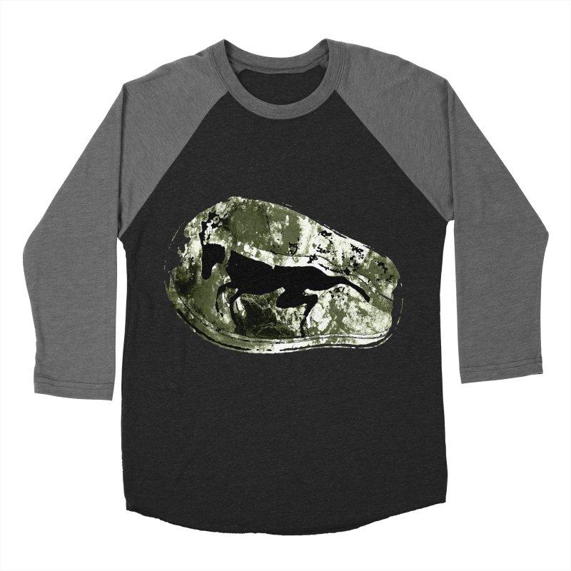 Running deer Men's Baseball Triblend T-Shirt by Mirabelle Digital Art shop
