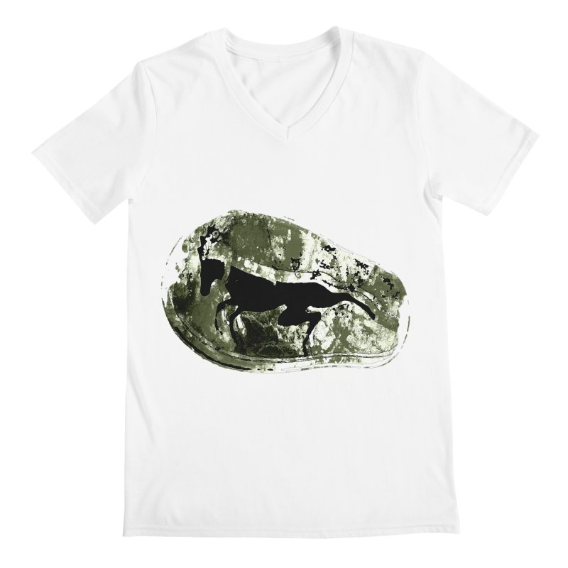 Running deer Men's V-Neck by Mirabelle Digital Art shop
