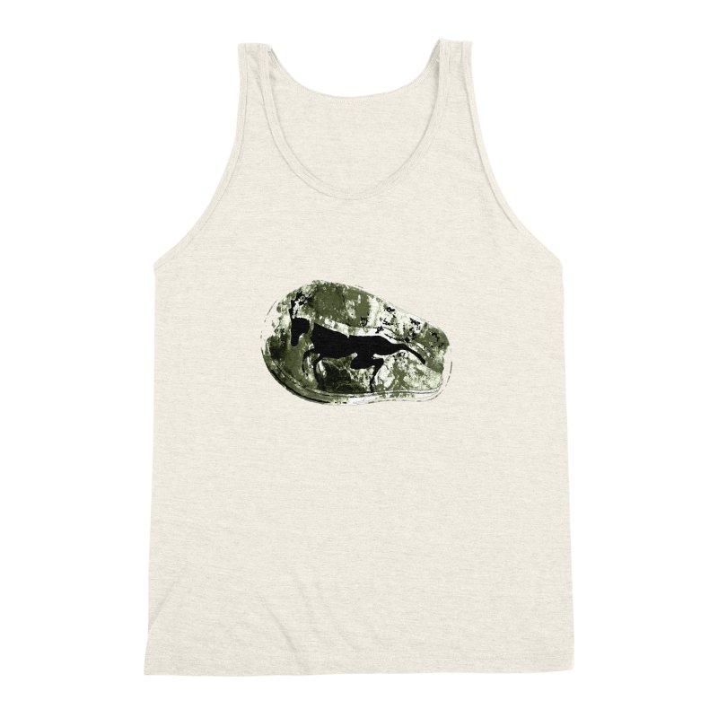 Running deer Men's Triblend Tank by Mirabelle Digital Art shop