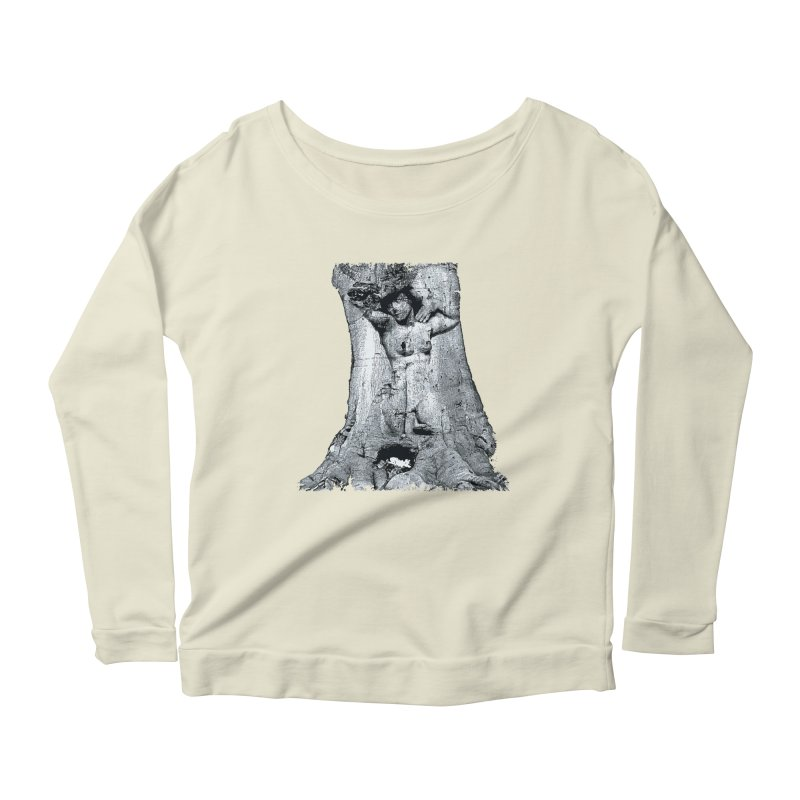 Hidden lady Women's Longsleeve Scoopneck  by Mirabelle Digital Art shop