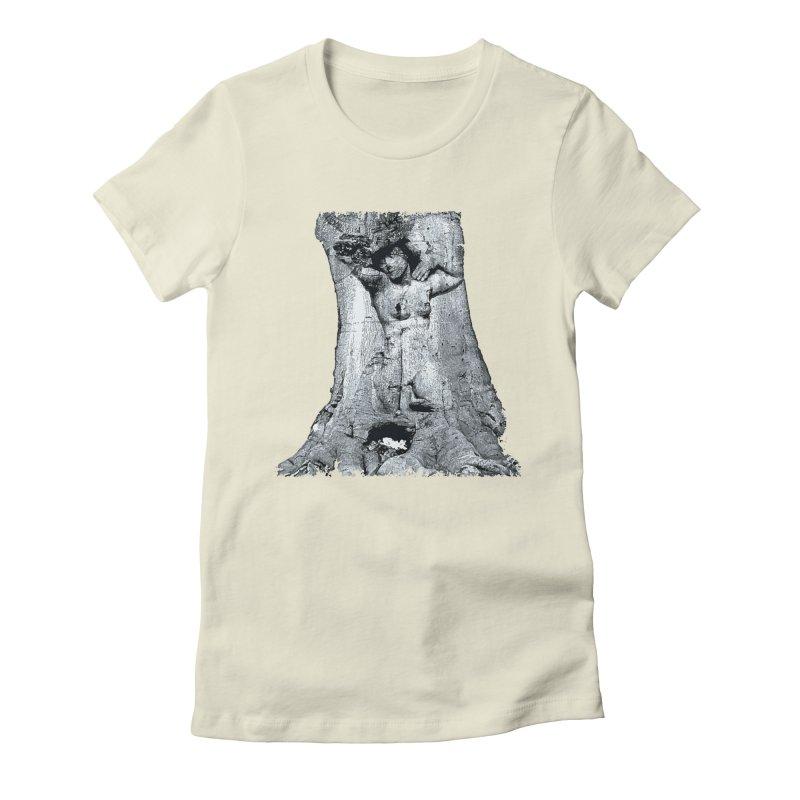 Hidden lady Women's Fitted T-Shirt by Mirabelle Digital Art shop