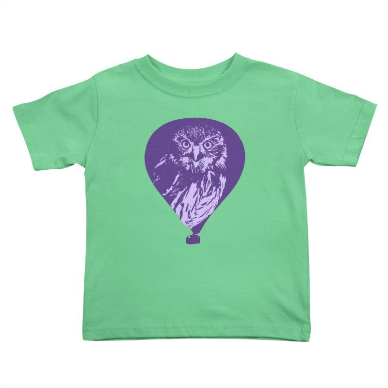 An owl in an air balloon Kids Toddler T-Shirt by Mirabelle Digital Art shop