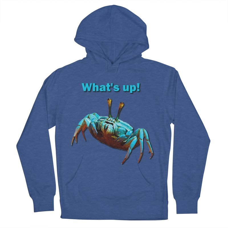 What's up! Men's French Terry Pullover Hoody by Mirabelle Digital Art shop