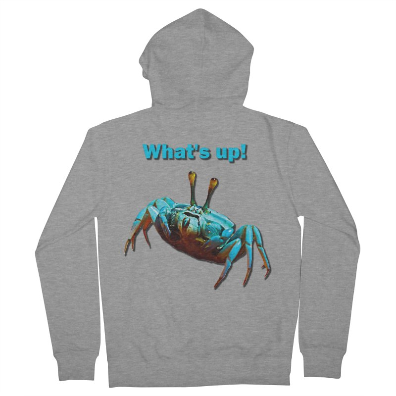 What's up! Men's French Terry Zip-Up Hoody by Mirabelle Digital Art shop