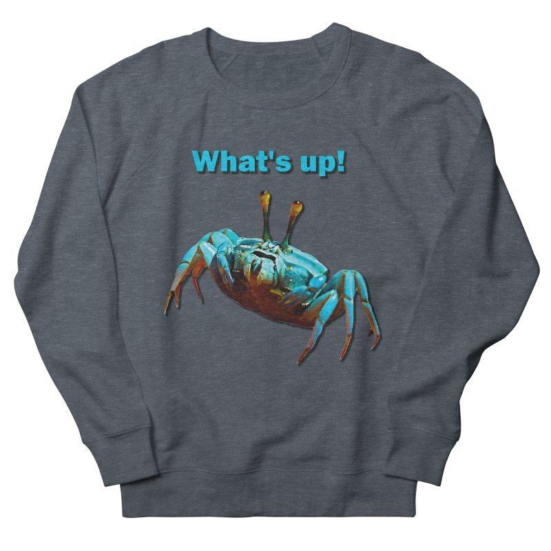 What's up! Men's French Terry Sweatshirt by Mirabelle Digital Art shop