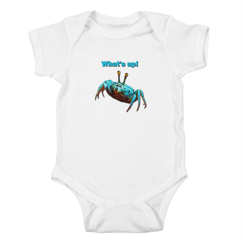What's up! Kids Baby Bodysuit by Mirabelle Digital Art shop