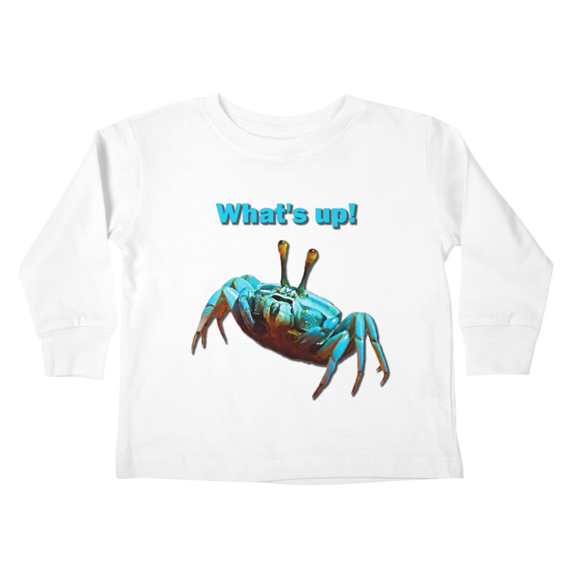 What's up! Kids Toddler Longsleeve T-Shirt by Mirabelle Digital Art shop