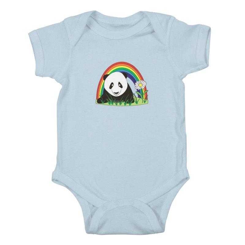 Cute panda Kids Baby Bodysuit by Mirabelle Digital Art shop