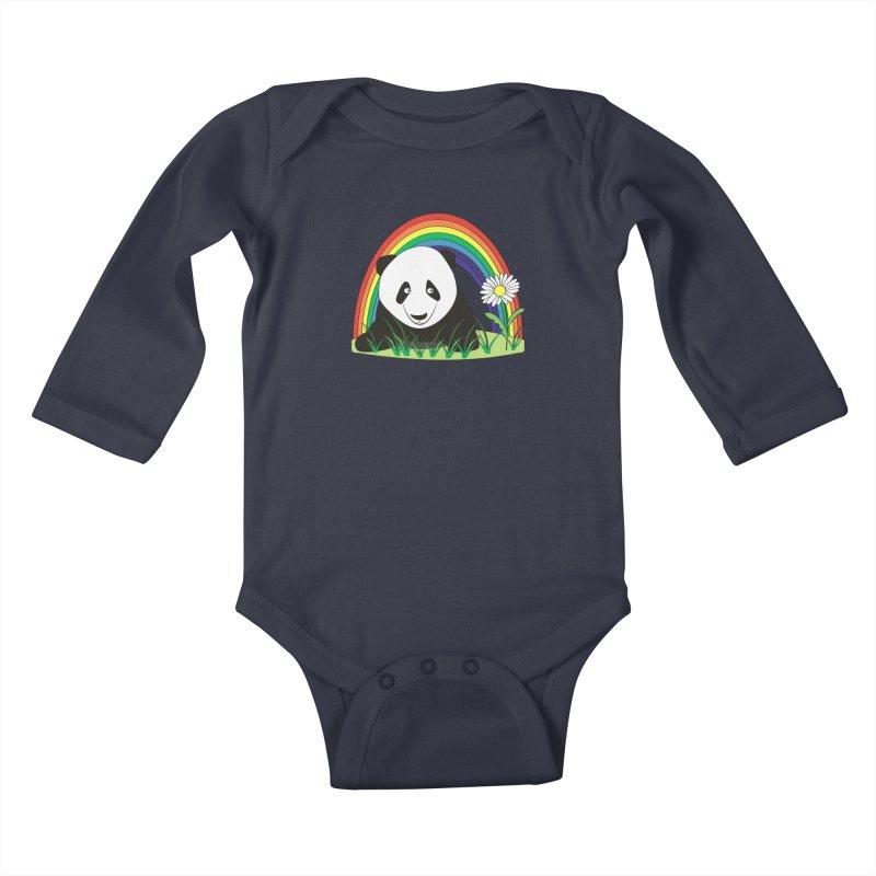 Cute panda Kids Baby Longsleeve Bodysuit by Mirabelle Digital Art shop