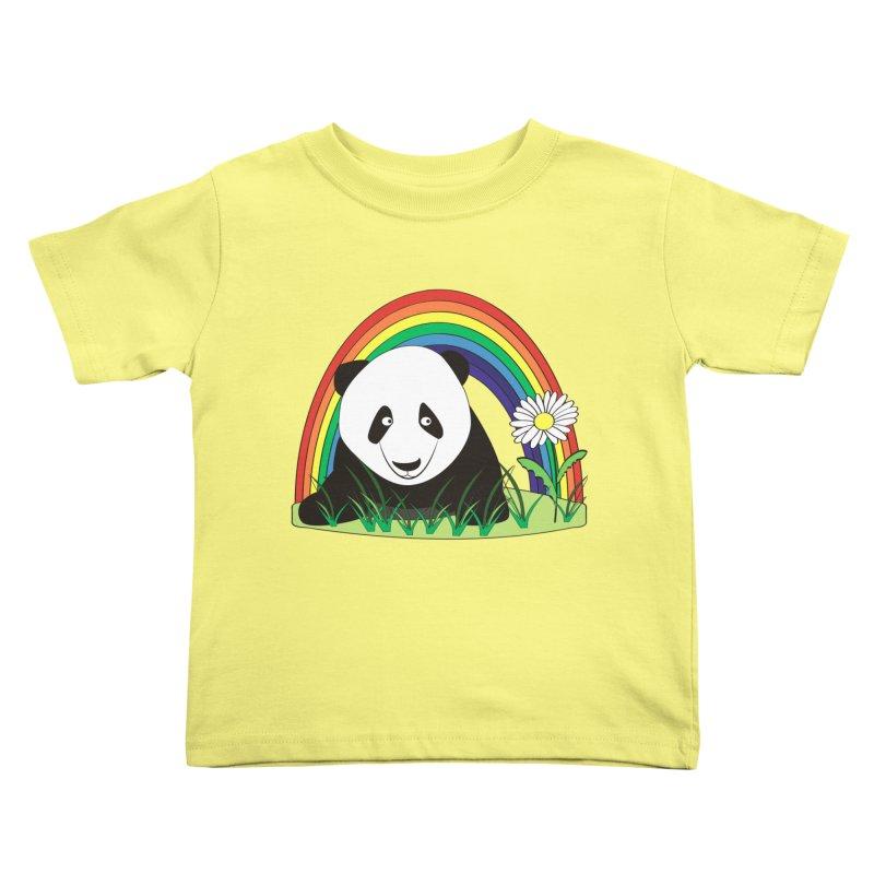 Cute panda Kids Toddler T-Shirt by Mirabelle Digital Art shop