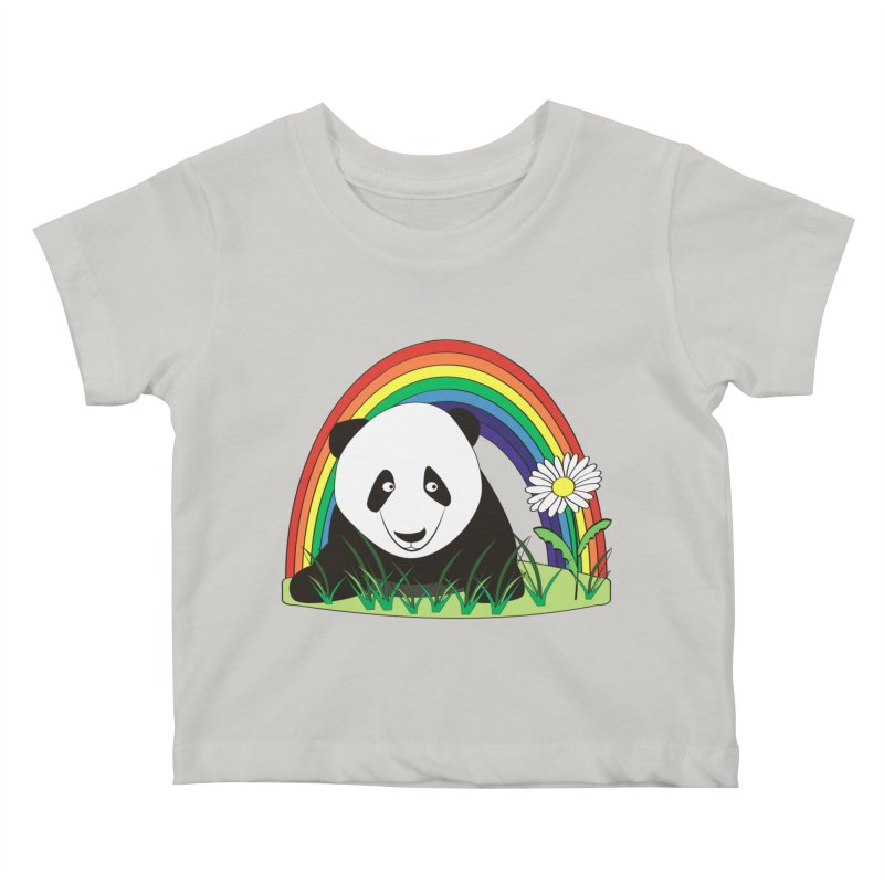 Cute panda Kids Baby T-Shirt by Mirabelle Digital Art shop