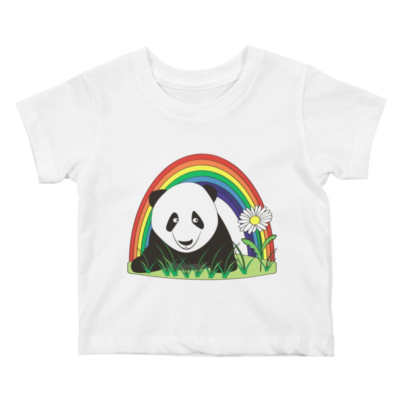 Cute panda Kids Baby T-Shirt by Mirabelle Digital Art shop