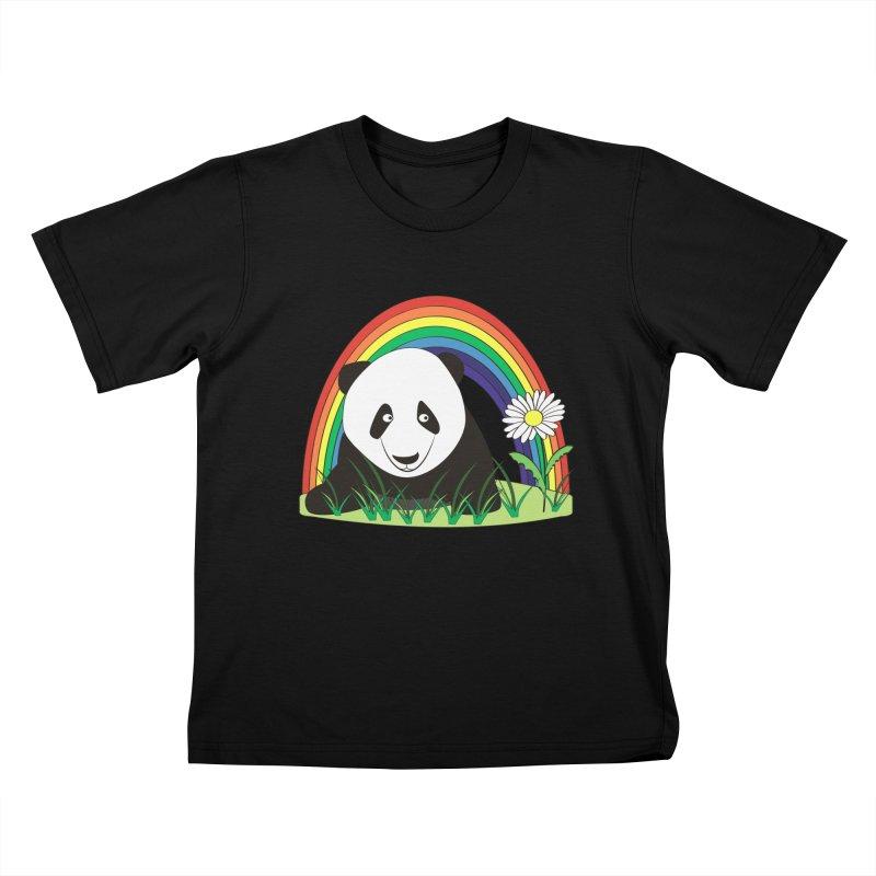 Cute panda Kids T-Shirt by Mirabelle Digital Art shop