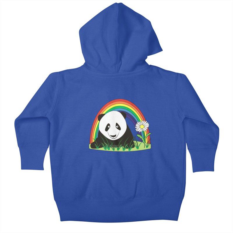 Cute panda Kids Baby Zip-Up Hoody by Mirabelle Digital Art shop