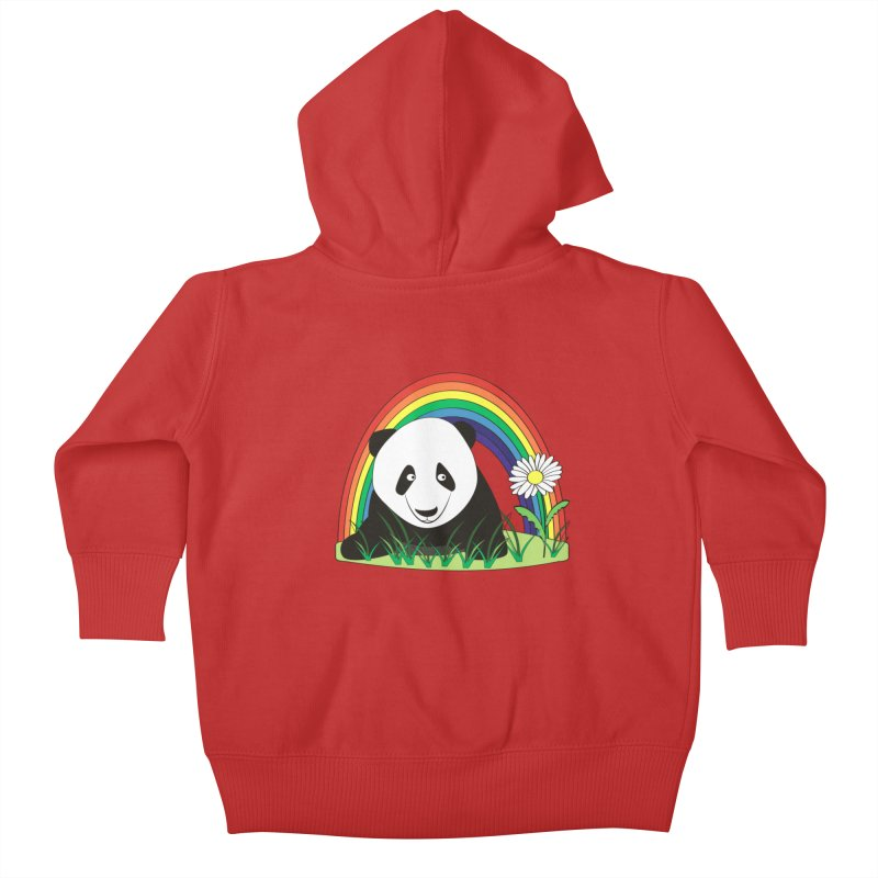 Cute panda Kids Baby Zip-Up Hoody by Mirabelle Digital Art shop