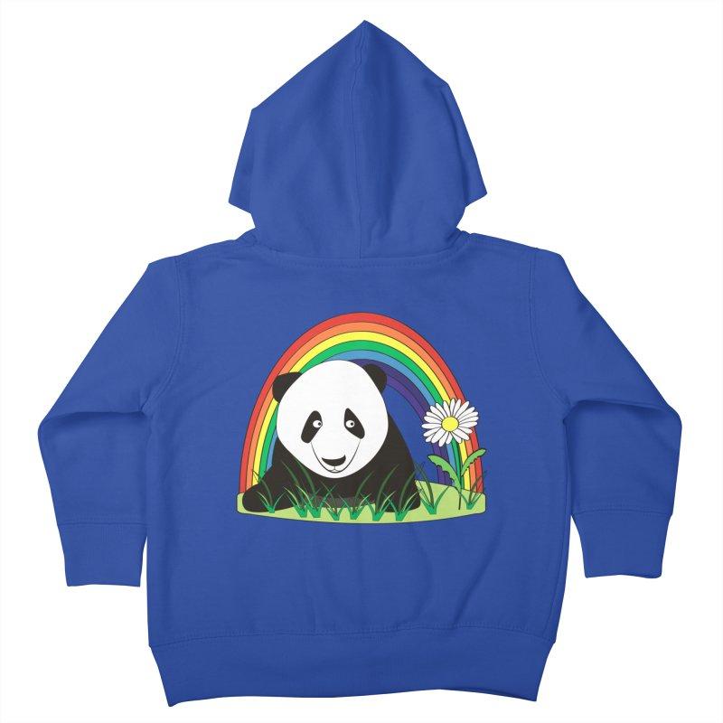Cute panda Kids Toddler Zip-Up Hoody by Mirabelle Digital Art shop