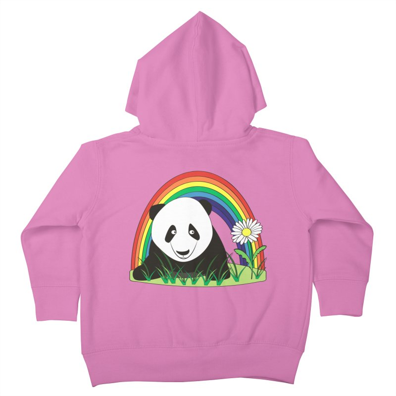 Cute panda Kids Toddler Zip-Up Hoody by Mirabelle Digital Art shop