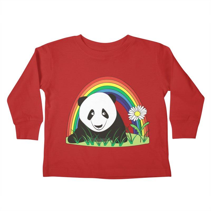 Cute panda Kids Toddler Longsleeve T-Shirt by Mirabelle Digital Art shop