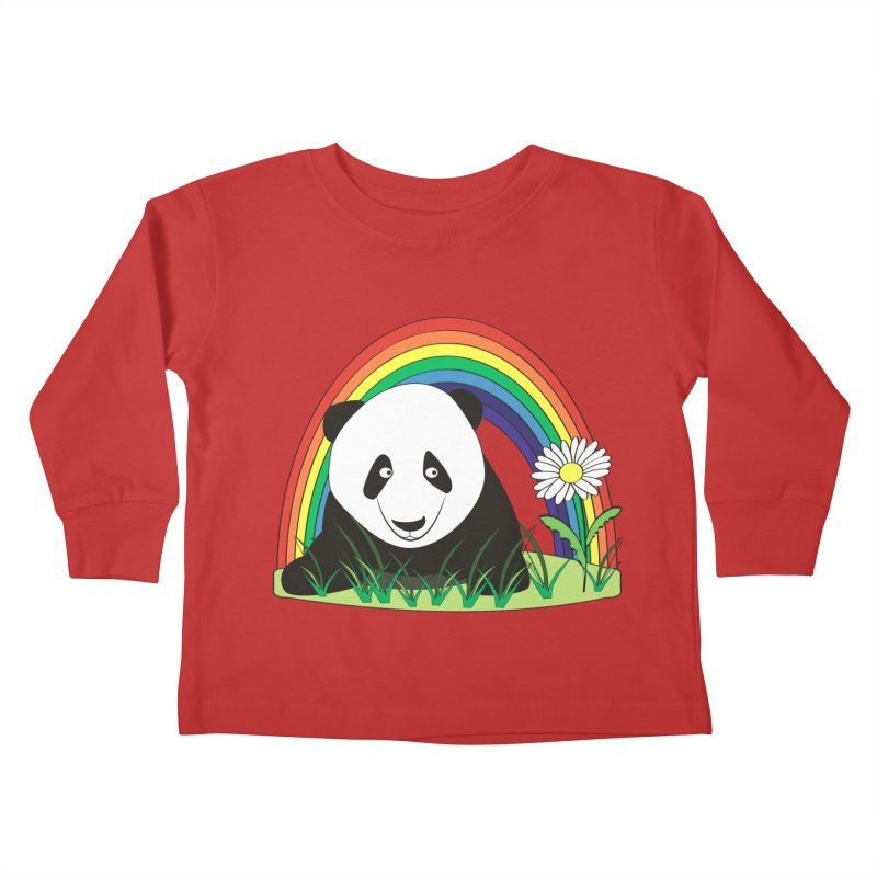 Cute panda Kids Toddler Longsleeve T-Shirt by Mirabelle Digital Art shop