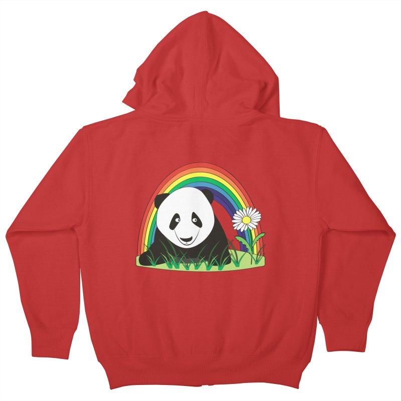 Cute panda Kids Zip-Up Hoody by Mirabelle Digital Art shop