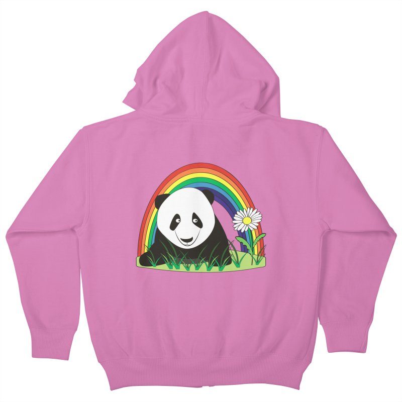 Cute panda Kids Zip-Up Hoody by Mirabelle Digital Art shop