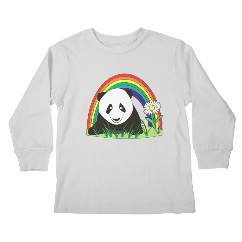 Cute panda Kids Longsleeve T-Shirt by Mirabelle Digital Art shop