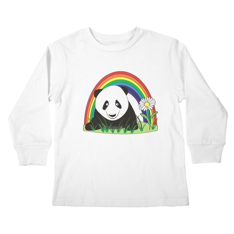 Cute panda Kids Longsleeve T-Shirt by Mirabelle Digital Art shop