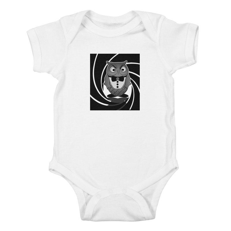 Double 0 Owl Kids Baby Bodysuit by Mirabelle Digital Art shop