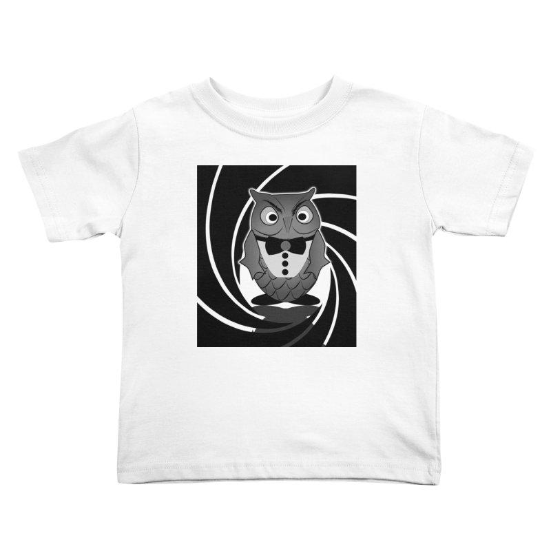 Double 0 Owl Kids Toddler T-Shirt by Mirabelle Digital Art shop