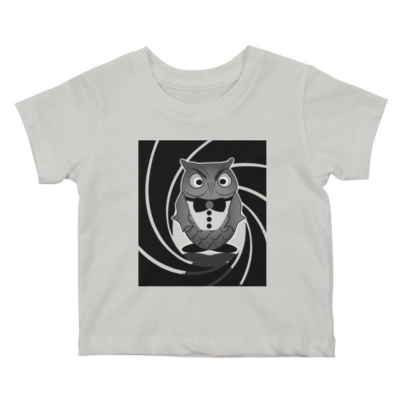 Double 0 Owl Kids Baby T-Shirt by Mirabelle Digital Art shop