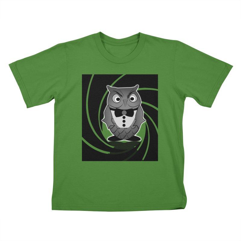Double 0 Owl Kids T-shirt by Mirabelle Digital Art shop