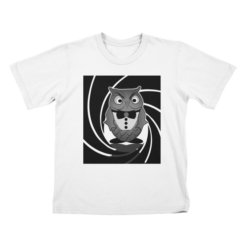 Double 0 Owl Kids T-shirt by Mirabelle Digital Art shop