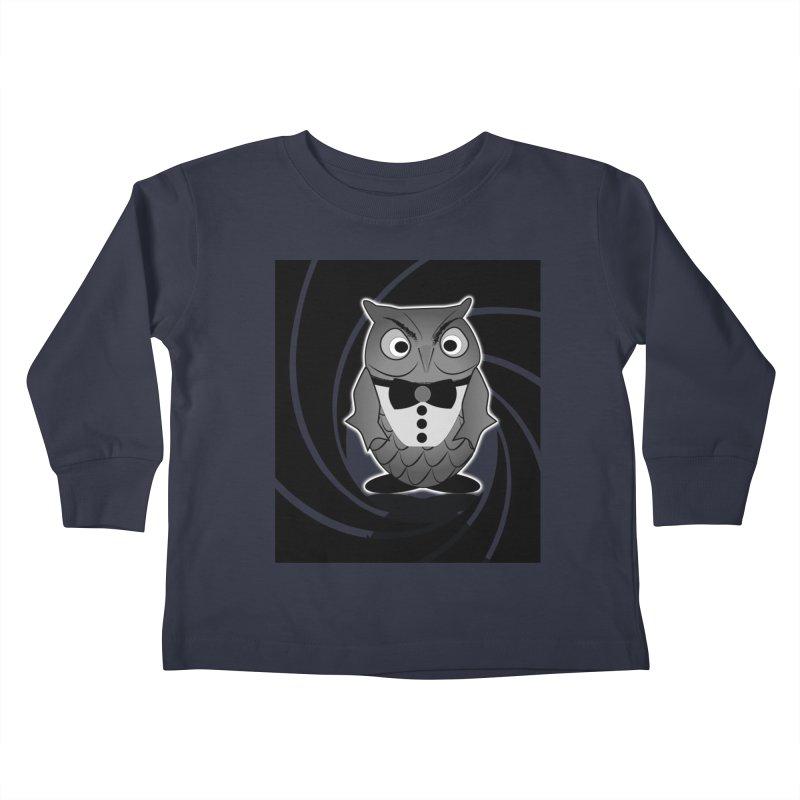 Double 0 Owl Kids Toddler Longsleeve T-Shirt by Mirabelle Digital Art shop