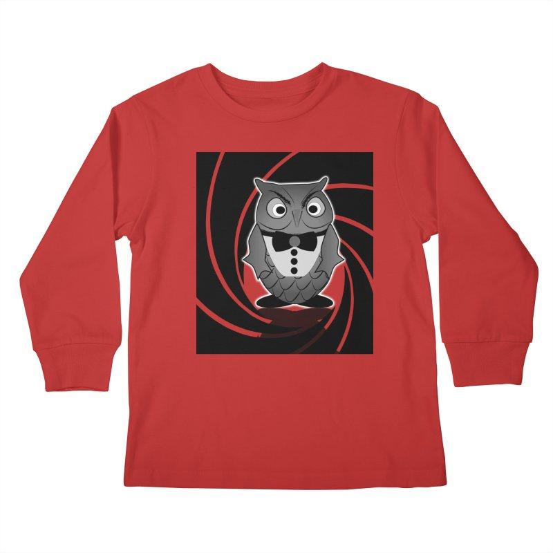 Double 0 Owl Kids Longsleeve T-Shirt by Mirabelle Digital Art shop
