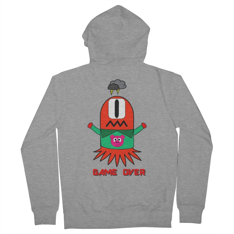 Game over Men's Zip-Up Hoody by Mirabelle Digital Art shop