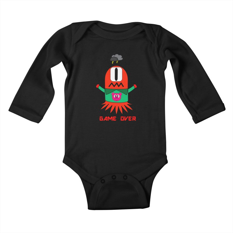 Game over Kids Baby Longsleeve Bodysuit by Mirabelle Digital Art shop