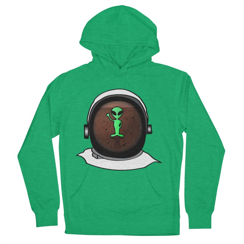 Hi nice to meet you earthling! Men's French Terry Pullover Hoody by Mirabelle Digital Art shop