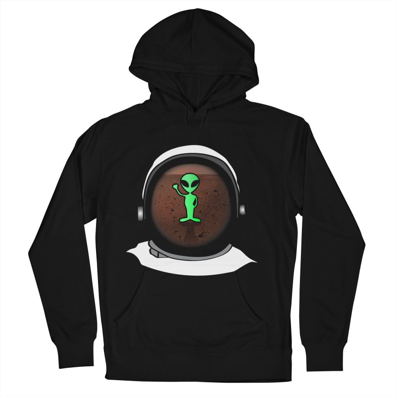 Hi nice to meet you earthling! Men's Pullover Hoody by Mirabelle Digital Art shop