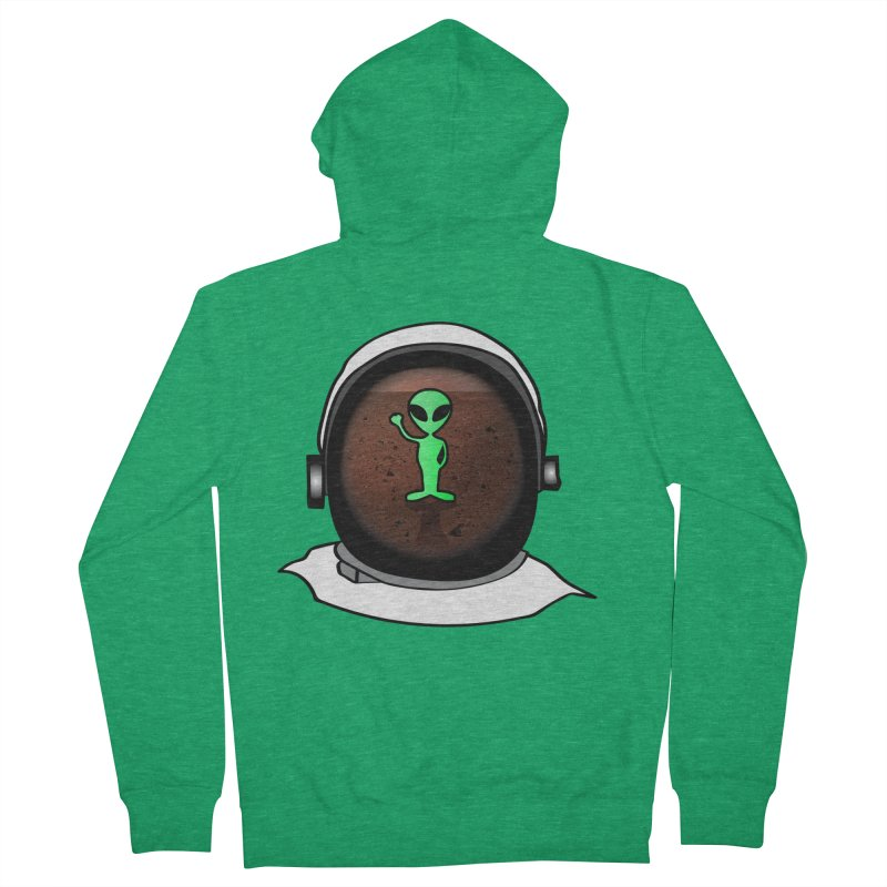 Hi nice to meet you earthling! Men's French Terry Zip-Up Hoody by Mirabelle Digital Art shop