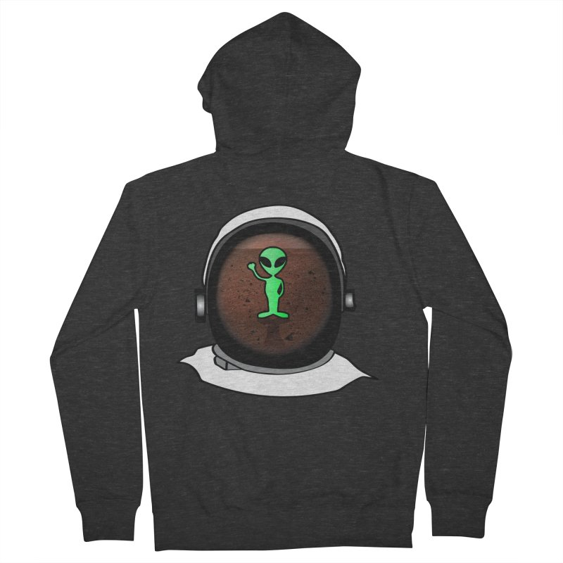 Hi nice to meet you earthling! Men's Zip-Up Hoody by Mirabelle Digital Art shop