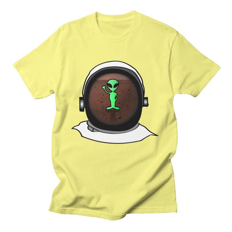 Hi nice to meet you earthling! Men's T-Shirt by Mirabelle Digital Art shop