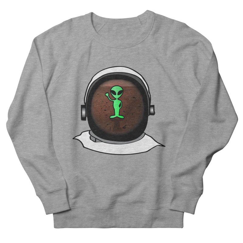 Hi nice to meet you earthling! Men's French Terry Sweatshirt by Mirabelle Digital Art shop