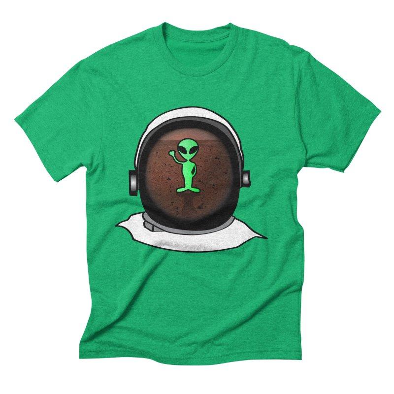 Hi nice to meet you earthling! Men's Triblend T-Shirt by Mirabelle Digital Art shop