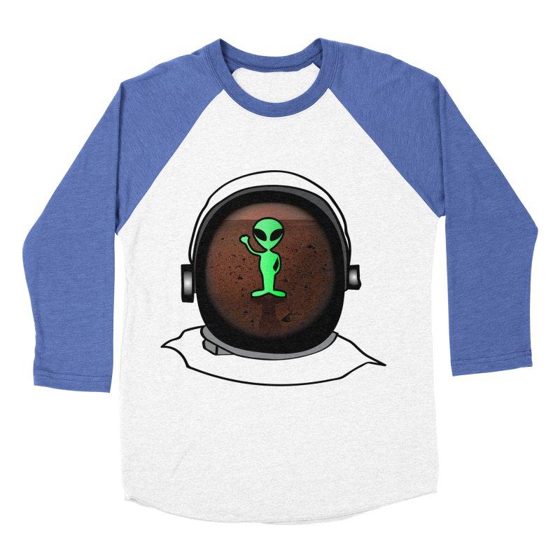 Hi nice to meet you earthling! Men's Baseball Triblend T-Shirt by Mirabelle Digital Art shop
