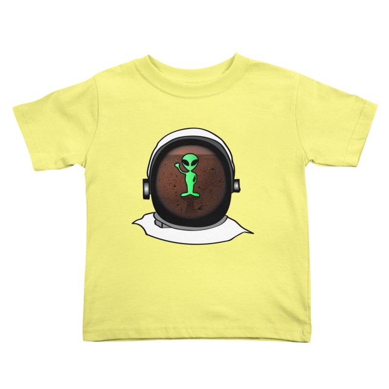 Hi nice to meet you earthling! Kids Toddler T-Shirt by Mirabelle Digital Art shop