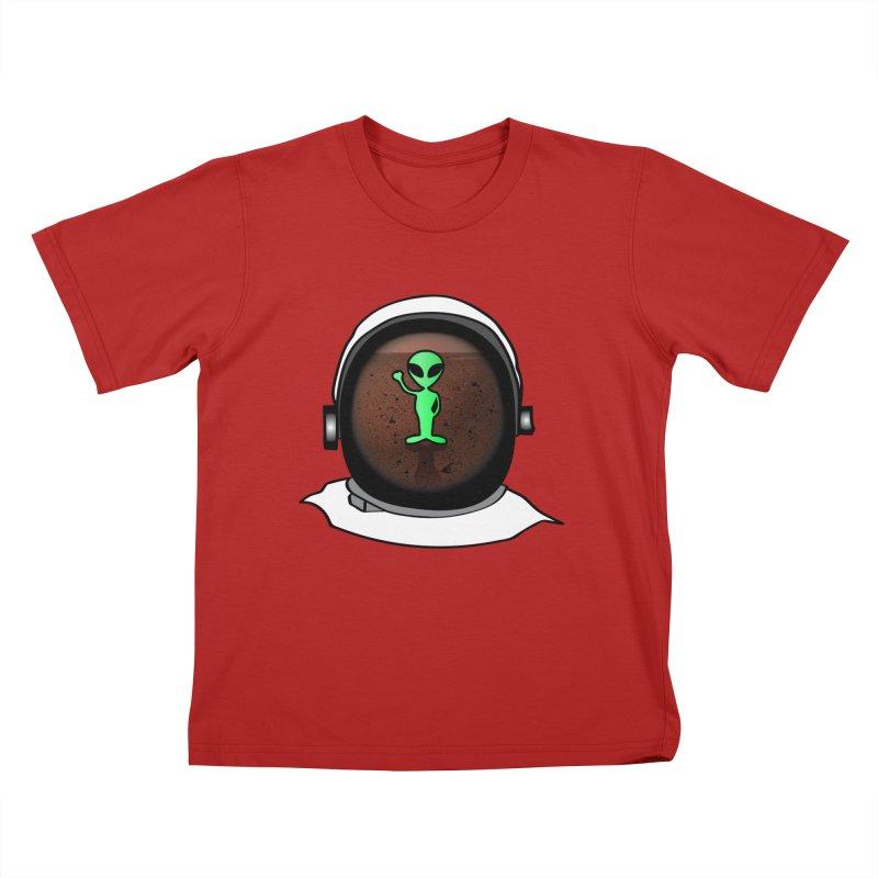 Hi nice to meet you earthling! Kids T-shirt by Mirabelle Digital Art shop
