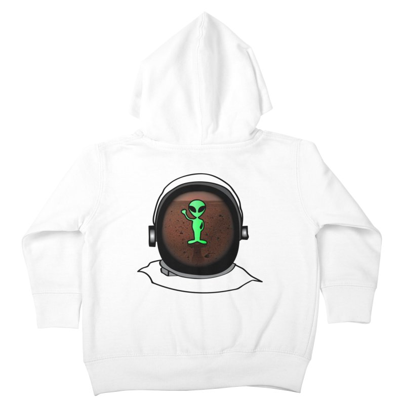 Hi nice to meet you earthling! Kids Toddler Zip-Up Hoody by Mirabelle Digital Art shop